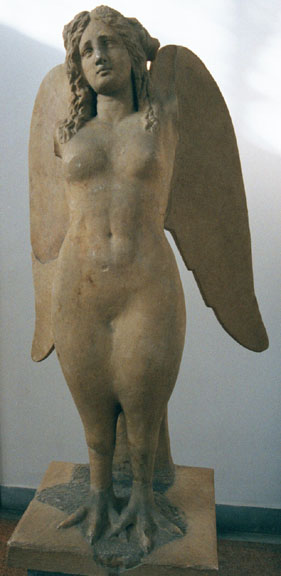 A siren from the National Archeological Museum in Athens, Greece via http://www.grisel.net/athens_museum.htm