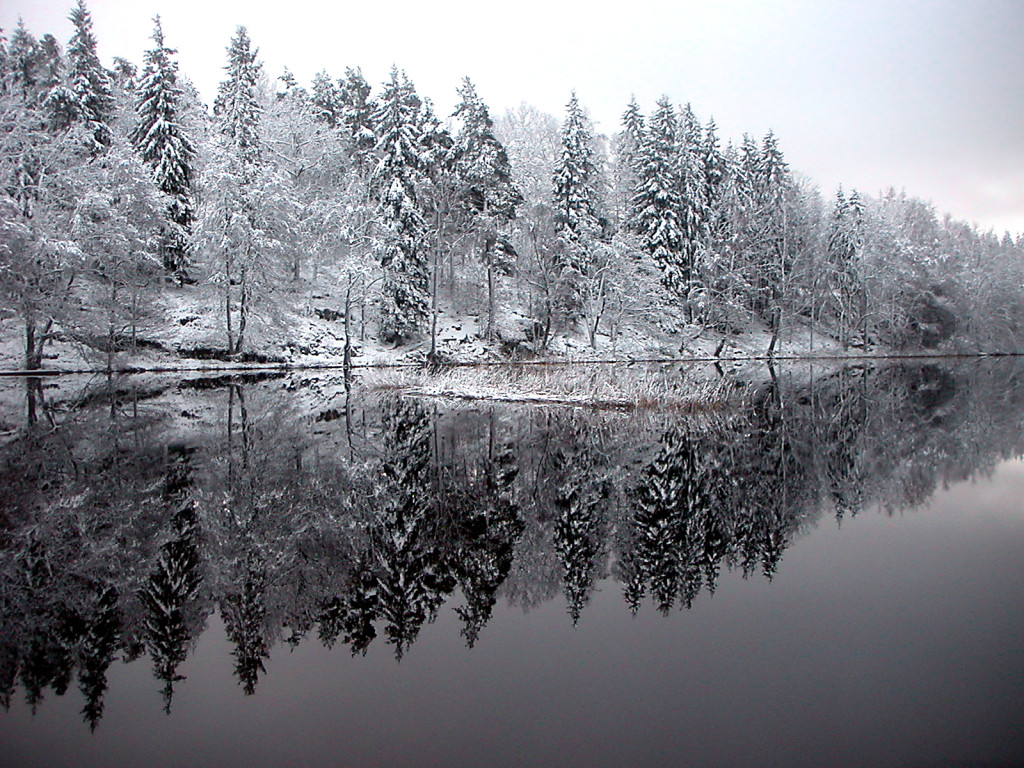 Lake Lilla Färgen in Alingsås municipality, Sweden.